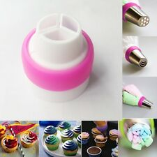 Piping Bag Kitchen Tools Cake Decorating Nozzle Converter 3 Color Coupler