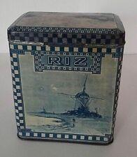 Boîte en tôle sérigraphiée début XXème décor Delft pour le riz
