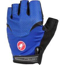 Gants bleus Castelli pour cycliste