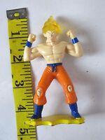 """2002 Super Saiyan Goku 4.25"""" Burger King Action Figure Dragon Ball Dragonball Z"""