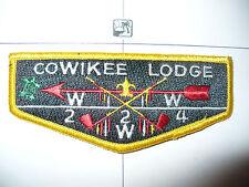 Cowikee Lodge 224,S14,1990,75th Ann OA YEL BD Flap,Alabama Florida Council,FL,AL