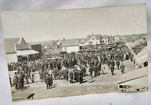 1916 Burdick Kansas Burdick Field Day Herington Kansas Band RPPC
