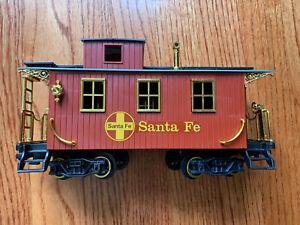 1986 New Bright Gold Rush Santa Fe Caboose Vintage Train Car G Scale