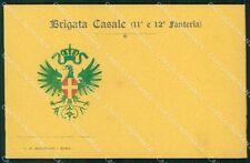 Militari 11º 12º Reggimento Fanteria Brigata Casale cartolina XF4392