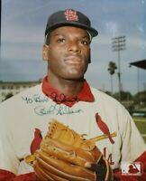 Bob Gibson (d.2020) St Louis Cardinals Signed Autographed Vintage 8x10 Photo