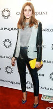 Olivia Palermo x Alexander Wang Blazer with Leather Sleeves Size 6 (Small)