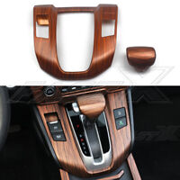 Wood Grain Interior Gear Shift Panel Cover Trim For Honda CRV CR-V 2017-2021