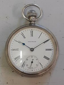 Solid Silver Waltham Pocket Watch