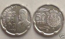 manueduc   ESPAÑA  50 pesetas  Año  1998    JUAN  CARLOS I  ESCUDO REAL NUEVA