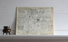 CATHEDRALE ET MUSEE  DE NAVARRE A PAMPELUNE stampa Laprade Croquis