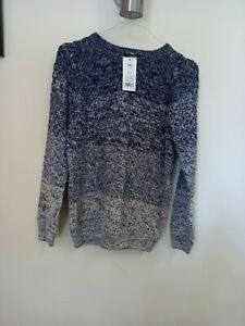 Brand New With Tags Boys Jumper From George 10-11 Wool Knit Chunky