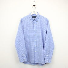 Mens Vintage RALPH LAUREN 90s Check Shirt Button Down Collar Slim Fit Blue | XL