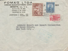 Worldwide stamp covers, 1940s Colombian airmail cover to US