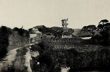 1901 Roadside Near Canton Pagoda & Arch China Photogravure Photograph