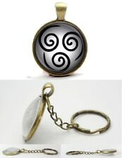 Avatar the Last Airbender - Antique Bronze Tone Photo Glass Dome Key Ring