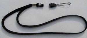 2 Black Neck Lanyard w/ Quick release detachable end ~for ID ~ Thumb Drive ~Keys