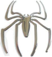 3D Spinne Spider Auto Aufkleber Sticker Emblem chrom silber Logo Diesel ROCK