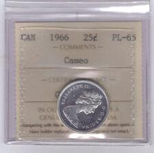 **1966** Canadian 25 Cents - ICCS PL-65 CAMEO **NO SALES TAX**