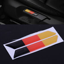 1 pair Seat Lift Wrench Slot Insert Trim With Germany Flag for VW Golf 5 6 GTI