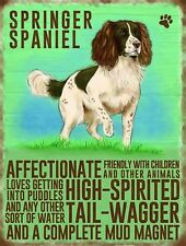 "Springer Spaniel small steel sign 200mm x 150mm    8"" x 6""   (og)"