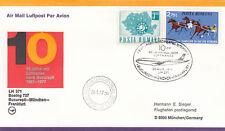 (06903) Rumanía Lufthansa 10 años Bucarest Munich Frankfurt 26 de agosto de 1977