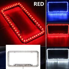Universal RED 54 LED 12V Lighting Acrylic Plastic License Plate Cover Frame Kit