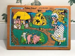 Vintage Fisher Price Wood Puzzle Little Bo Peep #2720 w/Pegs