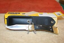 BUCK KNIFE MODEL 110BRSB-B  FOLDING HUNTER NEW IN BOX W/GENUINE EBONY HANDLES