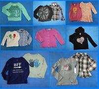 13 Piece Lot Nice Clean Girls Size 7 Fall School Winter Everyday Tops 2w92