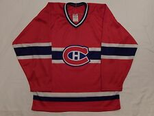 CCM MASKA MONTREAL CANADIENS NHL STITCHED HOCKEY JERSEY ADULT SIZE M MADE IN USA