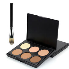 6 Colour Contour Radiance POWDER CONCEALER PALETTE & Contour BRUSH -Home, Travel
