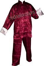 New 2 Pc Pajamas Burgundy Wine Men Womens SZ SM S Small  Pants L/S Top 2 Pc Set