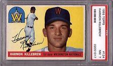 Harmon Killebrew Twins HOF 1955 Topps #124 Rookie Card Rc PSA 7 Near Mint x017
