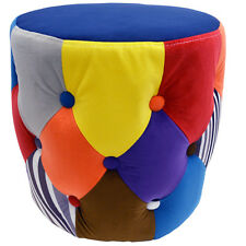 soleil - circulaire tambour Tabouret / Pouf siège - Multicolore och8001