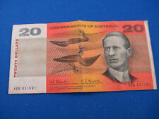1967 $20 COOMBS RANDALL FIRST PREFIX XBQ BANKNOTE. NICE EXAMPLE - RARE NOTE!!!