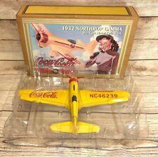 Ertl 1995 COCA COLA 1932 NORTHROP GAMMA DIECAST AIRPLANE METAL COIN BANK NOB