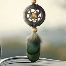 Dream Catcher Keyring Wood Hoop Feather Charm Pendant Bag Car Keychain Ornament