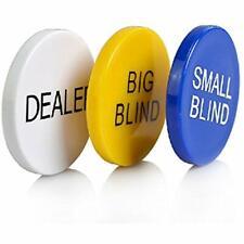3pcs Small Blind, Big Dealer Poker Buttons Sports &amp Outdoors