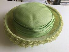 Vintage USA Union Made Ladies Brimmed Ribbon Hat