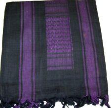SHEMAGH ARAB SCARF KEFFIYEH FASHION SCARF 100% Cotton Grey & Purple