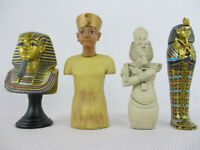 EGYPTIAN THEMED FIGURINES SET Lot of 4 Miniature Figures NEW!!