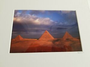 Photograph of Pyramids in Egypt signed D. P. Lane