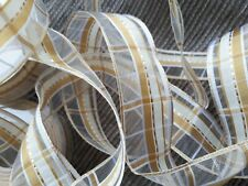 100 m 4 reels wired ribbon 40mm wide GOLDS organza Christmas FREE P&P Korsika