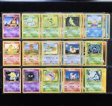1999 Pokemon BASE SET Unlimited Edition COMPLETE Non Holo COMMON Cards /102 Lot