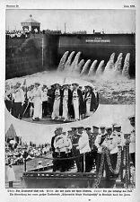 Der russische Zar weiht das neue Trockendock in Kronstadt ein Histor.Aufn.1914