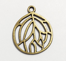 10 pcs of Antique brass pendant 27x22mm, bronze alloy pendant
