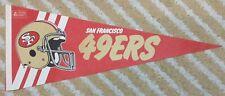 San Francisco 49ers Full Size NFL football Pennant 80's
