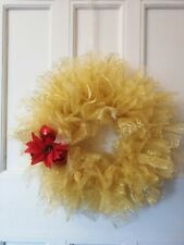 tulle Christmas wreath in gold.stunning colour.