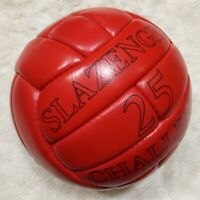 SLAZENGER 25 CHALLENGE MATCH BALL | RED CLASSIC LEATHER FOOTBALL | WC 1966