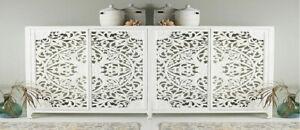Wooden hand carved modern elegant white sideboard furniture